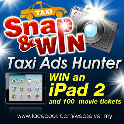 Taxi Ads Hunter-Win an iPad2 Contest